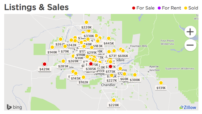 Zillow map